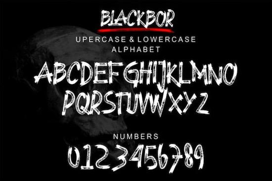 BLACKBOR font download