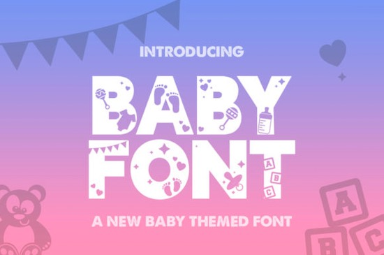 Baby Silhouette font download