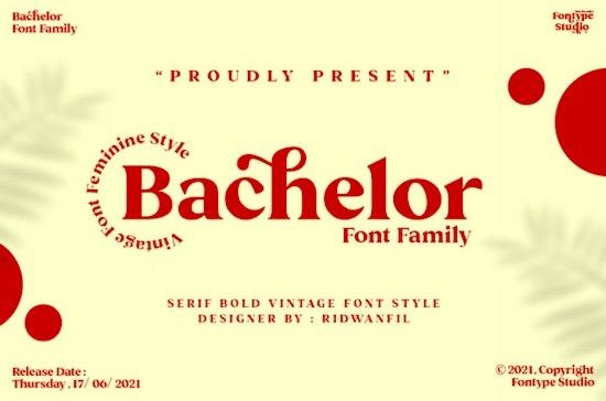 Bachelor font free download
