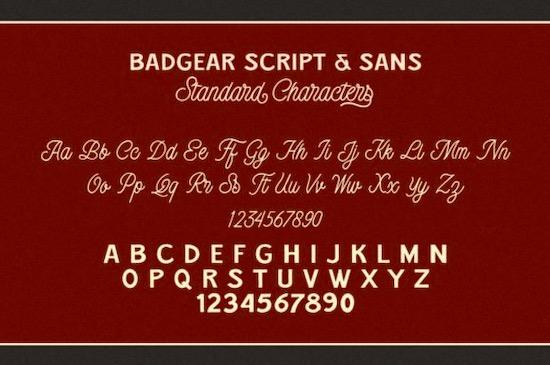 Badgear font duo download