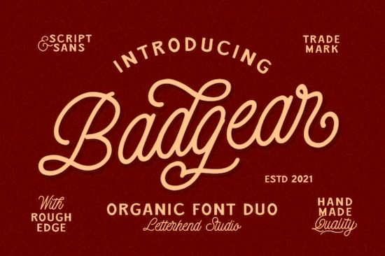 Badgear font duo free download