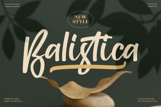 Balistica Font free download