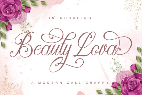 Beauty Lova font free download