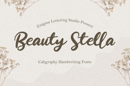 Beauty Stella font free download