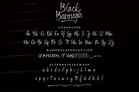 Black Borough font download