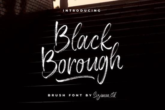Black Borough font free download