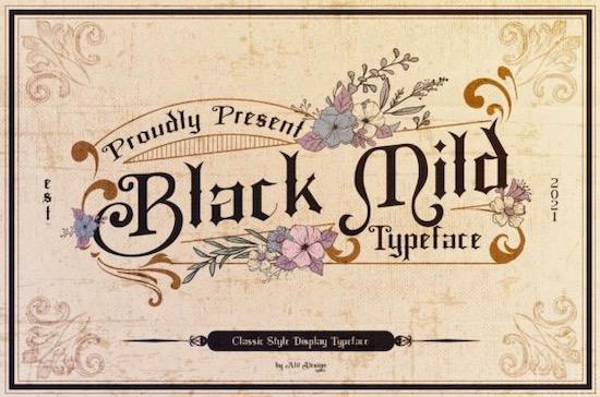 Black Mild font free download