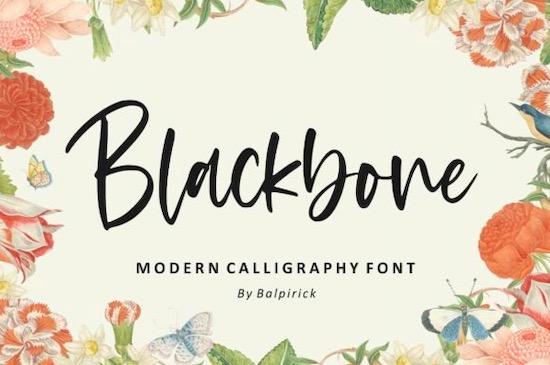 Blackbone font free download