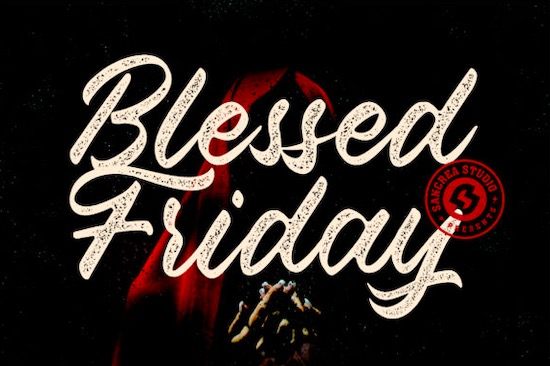Blessed Friday Font free download