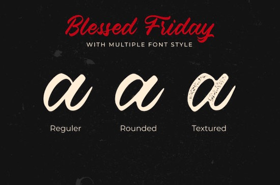 Blessed Friday Font free