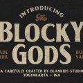 Blocky Gods font free download