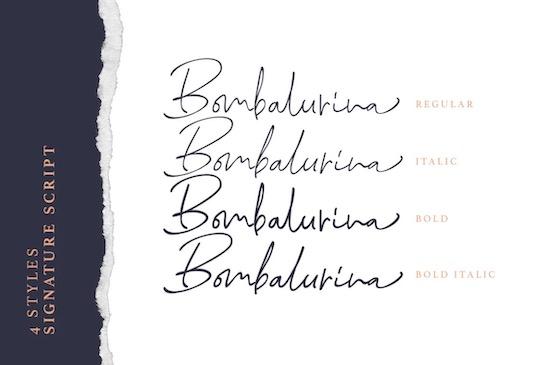 Bombalurina font family free