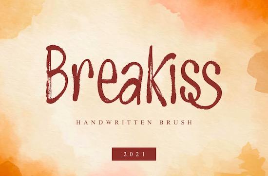 Breakiss font free download