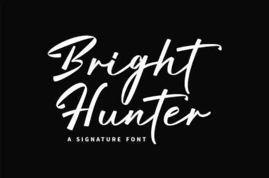Bright Hunter font download