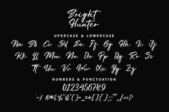 Bright Hunter font free