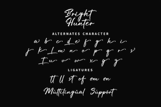 Bright Hunter font
