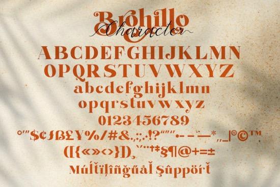 Brohillo font download