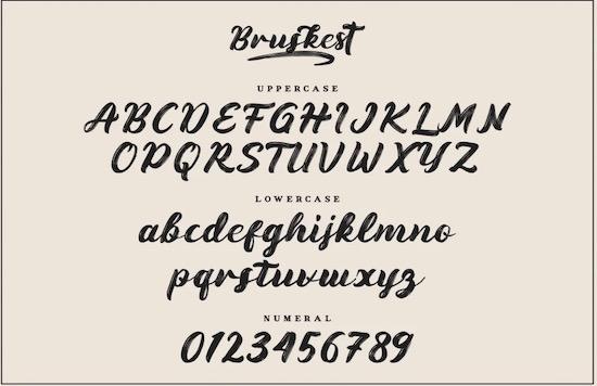 Bruskest Font download
