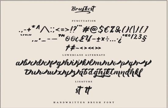 Bruskest Font free