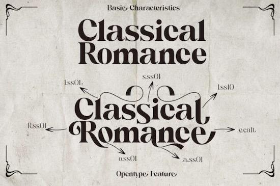 Classical Romance font download