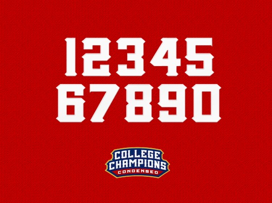 College Championship font download