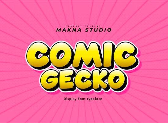 Comic Gecko font