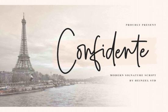 Confidente font free download