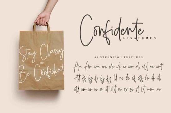 Confidente font free