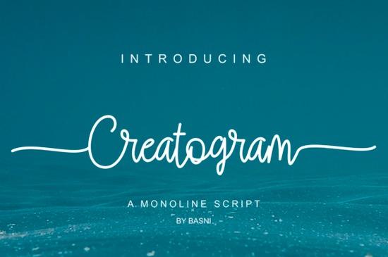 Creatogram font free download