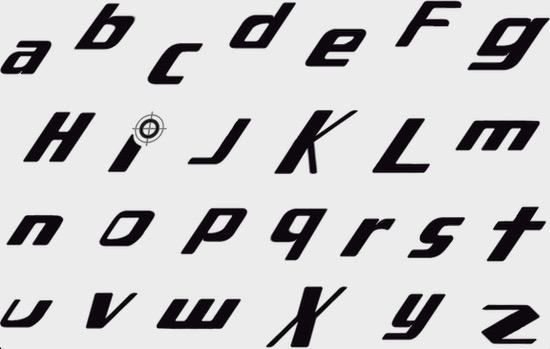 Danganronpa logo font