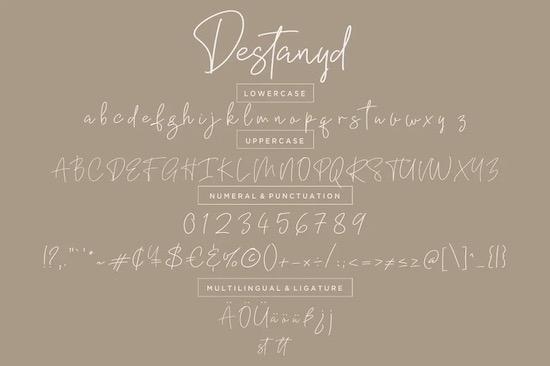 Destanyd font download