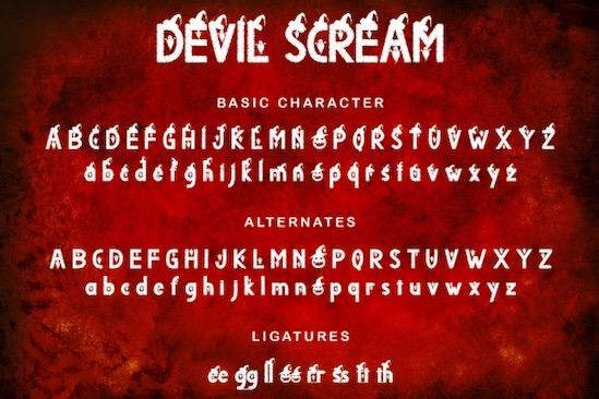 Devil Scream font download