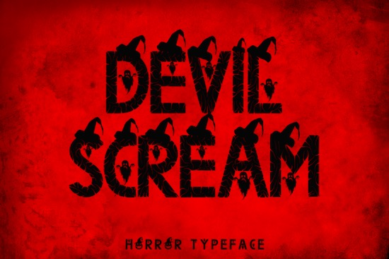 Devil Scream font free download