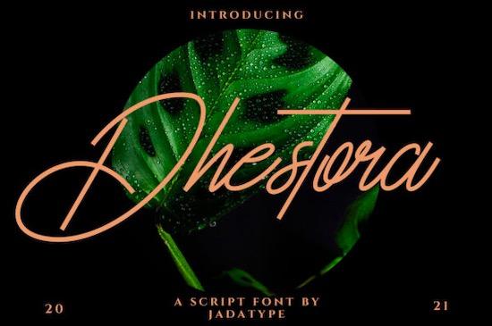 Dhestora font free download