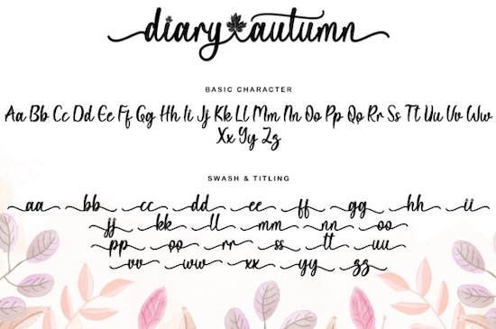 Diary Autumn font download