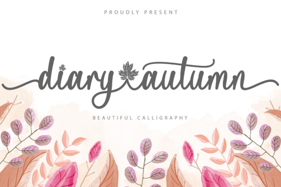 Diary Autumn font free download