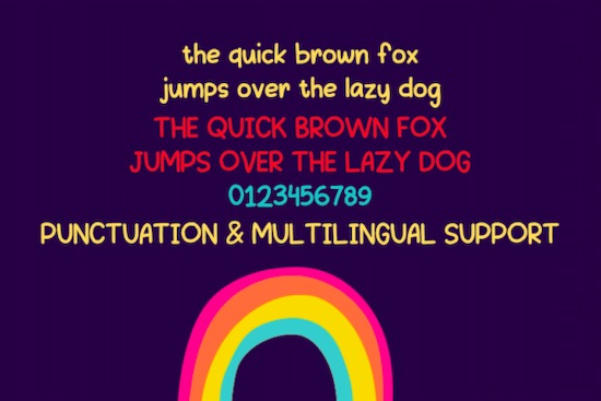 Drawing Rainbow font download
