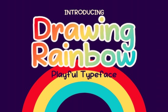 Drawing Rainbow font free download