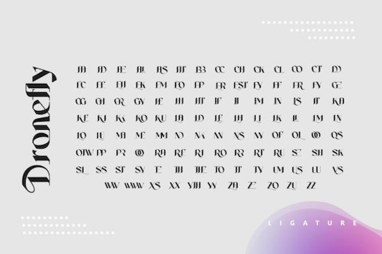 Dronefly font download