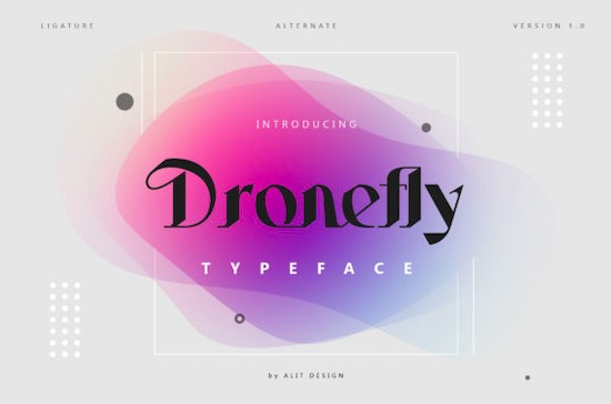 Dronefly font free download