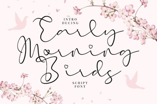 Early Morning Birds font free download