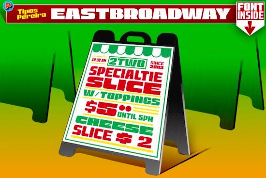 East Broadway font free download
