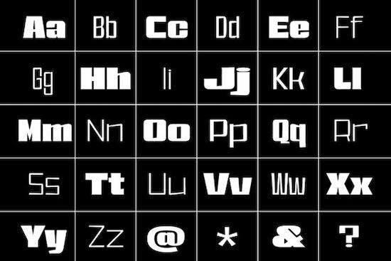 East Broadway font free
