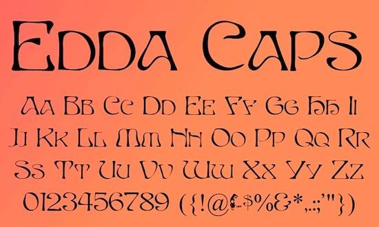 Edda Caps font free
