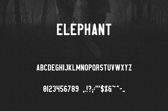 Elephant font download