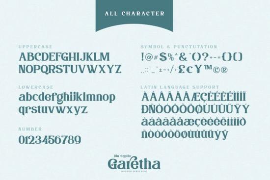 Garethan font free download