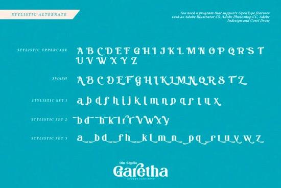 Garethan font free