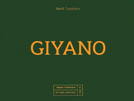 Giyano font free download