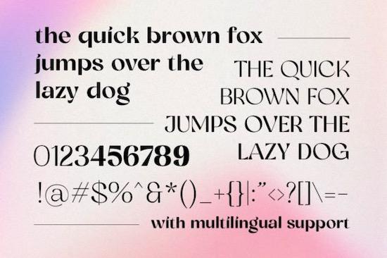 Glorify Sans font download