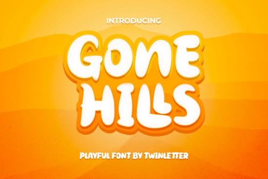 Gone Hills font free download